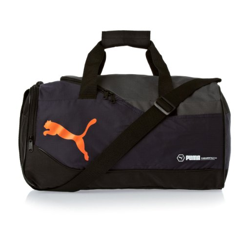 Puma Polyester New Navy and Golden Poppy Softsided Travel Duffle