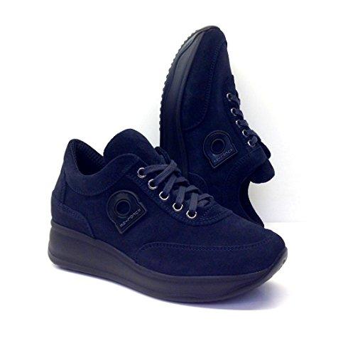 Agile By Rucoline, scarpe donna, 1304 A LEON, sneakers, camoscio,lacci,scarponcino,casual (37, blu)