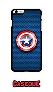 Caseque Lustrous Captain America Shield Back Shell Case Cover For Apple iPhone 6 Plus
