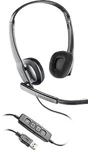 Plantronics Blackwire C220-M - Auriculares con micrófono (Negro, Microsoft Lync 2010, USB, Alámbrico, Circumaural, 118 Db)