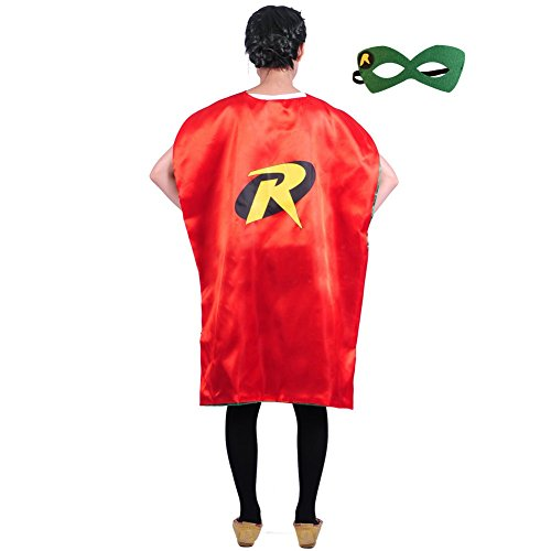 Adult Teen (43 in) Superhero Capes w/Mask (Robin)