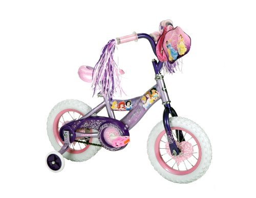 Huffy Disney Princess Girls Bike, Purple, 12-Inch