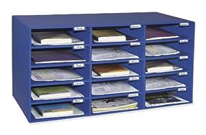 Classroom Keepers 15 Slot Mailbox, Blue