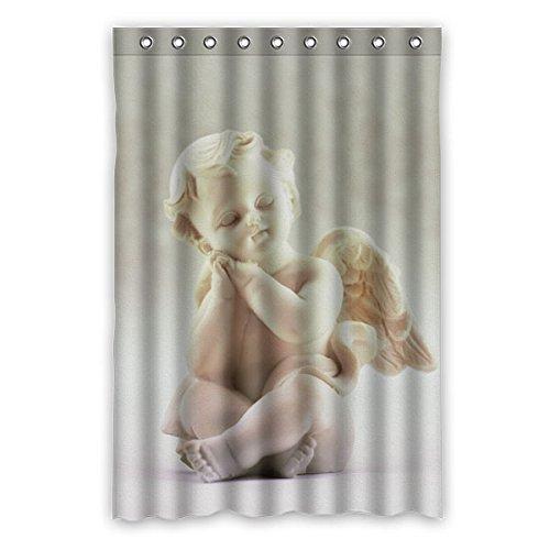 """120 cm x 183 cm (48 """"x 72"""") Curtain Bagno Doccia, Generale di moda creativa 3D Angel Statue personalizzato verde muffa tenda di acquazzone impermeabile"""