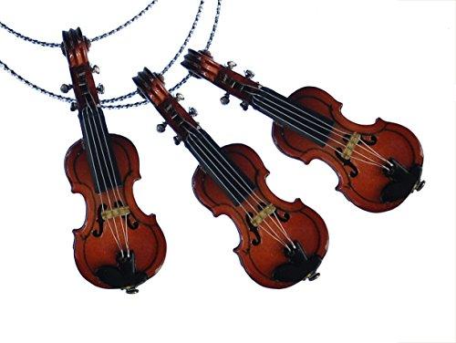3-Stck-Weihnachtsbaum-Anhnger-Christbaumschmuck-Dekoration-Geige-Violine-Holz