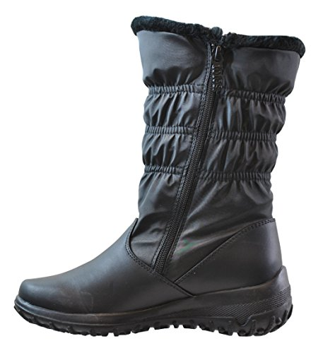 Women's Totes Double-Zip Winter Boots, Black, Size Shoes by sashimicraft.ga in Black, Size 5. 5 M. Confidently brave the cold and ice with rugged, slip-resistant treads. Waterproof nylon upper with duel signature zipper pulls for easy on/off.