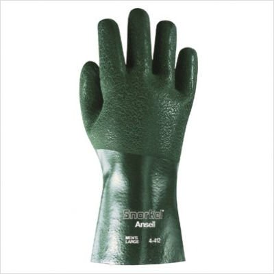 Ansell - Snorkle Pvc Coated Gloves Snorkel Premium Pvc/Nitrile Finish: 012-4-412-9 - snorkel premium pvc/nitrile finish