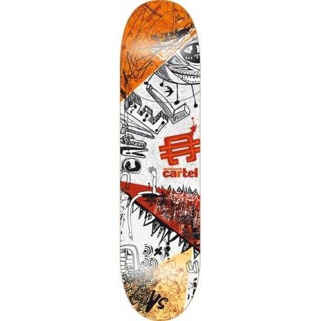 Cartel - Skateboard Framed Society, Arancione (arancione), 7.8
