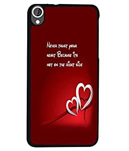 PRINTVISA Quotes Heart Case Cover for HTC Desire 820