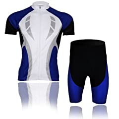 Buy Baleaf Mens Short Sleeve Cycling Jersey Blue Passion Style by Baleaf