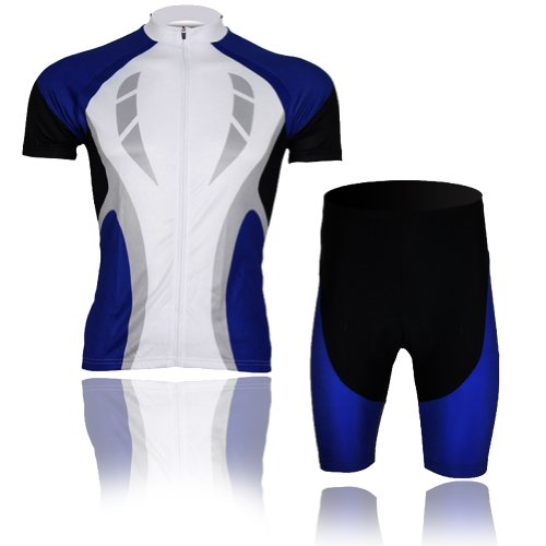 Baleaf Mens Short Sleeve Cycling Jersey Blue Passion Style XXL