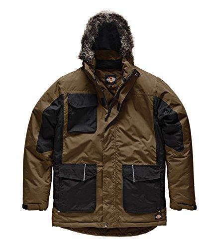 Dickies, JW7008, giacca bicolore Parka cachi / nero KHB XXL