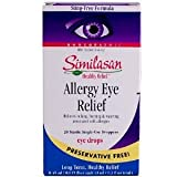 Similasan Allergy Eye Relief 100% Natural 20 droppers (0.45ml Each, 20 Sterile Single Use Droppers)