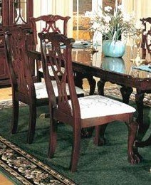 Side Chair in Dark Cherry by Poundex (Set of 2) (Chippendale Side Chair compare prices)