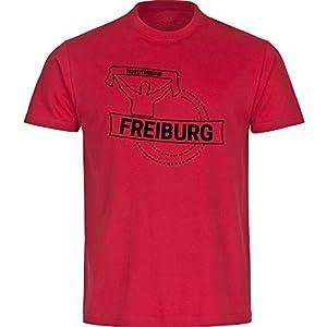 T-Shirt Rundhals Fankurve Freiburg farbig Kinder Gr. 128 bis 176
