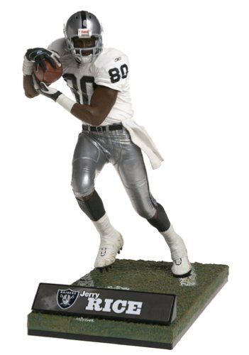 McFarlane Toys NFL Sports Picks Deluxe 12 Inch Action Figure Jerry Rice Oakland Raiders White JerseyB0000BUX2H : image