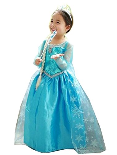 Inspired Elsa Princess Costume with Bracelet for Mom