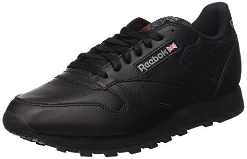 Reebok CL LTHR 28412 - Sneaker classiche uomo, Nero (Black), 44