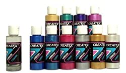 Createx KIT-P10 PEARL Airbrush Color Set