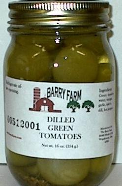 Dilled Green Tomatoes