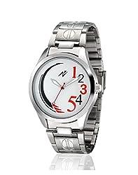 Yepme Men's Chain Watch - White/Silver -- YPMWATCH2678