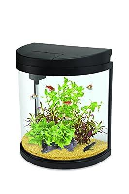 Interpet Led Fishbox Half-Moon Aquarium Fish Tank - 19 Litre