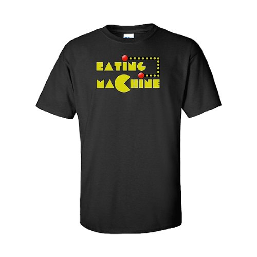 Iamtee Eating Machine T-Shirt-Black-Xxl