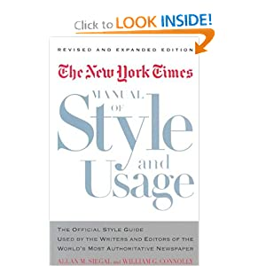 new york times manual of style