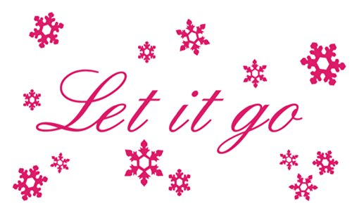 Let it go Wall Quote & Snowflake Decal Set from Frozen