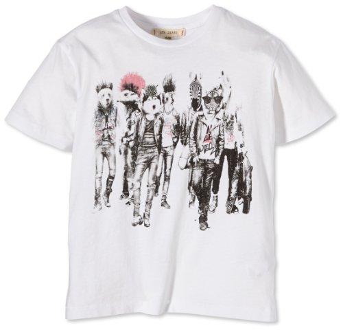 LTB Jeans Jungen T-Shirt Punk T/S, Gr. 176 (Herstellergröße: 15-16), Weiß