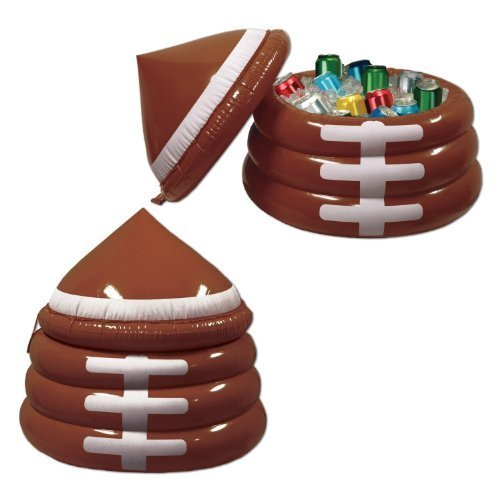 Inflatable Football Cooler (holds apprx 24 12-Oz cans) Party Accessory (1 count) (1/Pkg) by Beistle