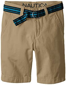 Nautica Boys 8-20 Belted Flat-Front Short from Nautica