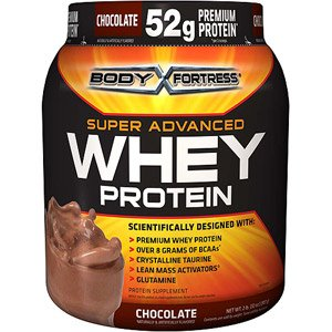 Body Fortress Whey Protein Powder, Chocolate, 32 Ounces (Pack of 2)