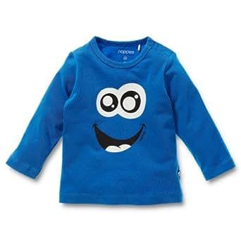Noppies Baby - Jungen Sweatshirt 24600-Tee Apollo, Gr. 68, Blau (mid blue)