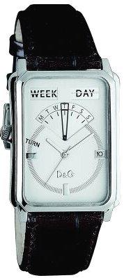 D&G Dolce&Gabbana D&G Sea Quest - Reloj analógico unisex de cuarzo con correa de piel marrón - sumergible a 30 metros