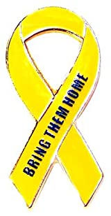 Support Our Troops-Bring Them Home-Yellow Ribbon Lapel Pin