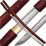 Ace Martial Arts Handmade Japanese Shirasaya Samurai Katana Sword Sharp
