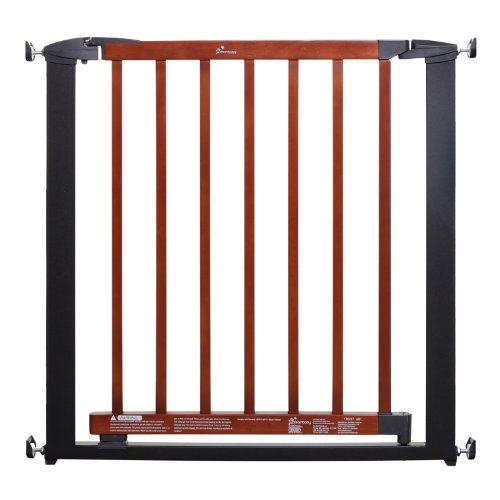 Dreambaby Windsor Auto Close Security Gate-Charcoal Metal/ Cherry Color Wood - 1