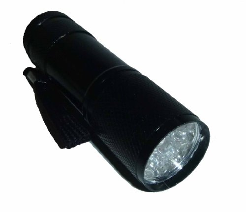 LEDブラックライト 紫外線 UV 9LED ブラック 黒