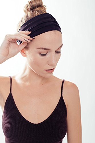 Flash Sale! ELAN - Headband for Women - Highest Quality Material, Sweat Wicking, Best Looking Head Band for Fashion, Yoga and Exercise - Love It Guaranteed! (Black)