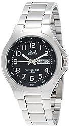 Q&Q Regular Analog Black Dial Mens Watch - A164-205Y