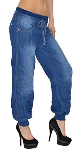 damen jeans hose haremshose pumphose damen jeans. Black Bedroom Furniture Sets. Home Design Ideas