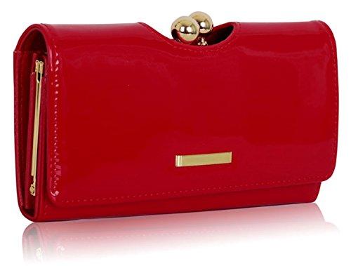 Ladies Fashion Designer Patent Kisslock Clutch