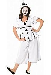 Gigi the Pierrot Adult Plus Costume (Adult Costume)