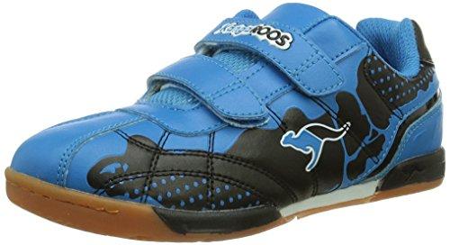 KangaROOS KangaField 3014, Scarpe da ginnastica Unisex - bambino, Nero (Schwarz (black/blue 544)), 31 (12 uk)