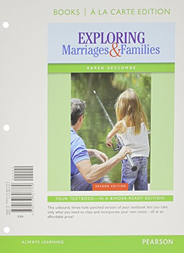 Exploring Marriages and Families Books a la Carte Edition (2nd Edition)