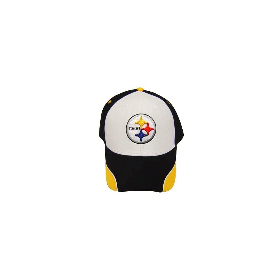 NFL PITTSBURGH STEELER BLACK COTTON VELCRO HAT CAP OSFA