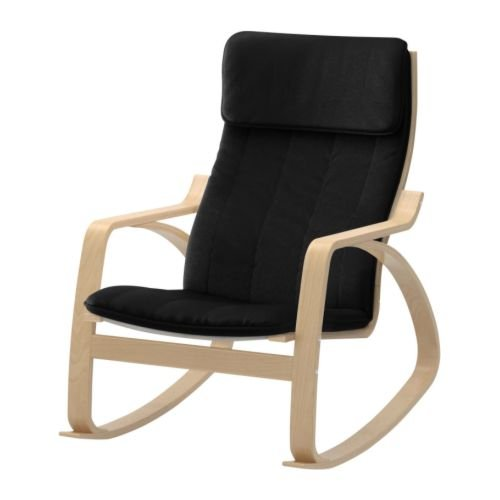 Body Balance System Harmonic Massage Rocker (Black Cotton Fabric with Birch Finish Frame)