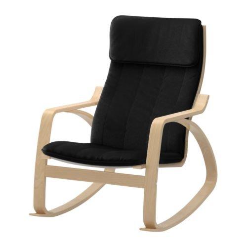 Body Balance System Harmonic Massage Rocker (Black Cotton Fabric with Birch Finish Frame) - 1