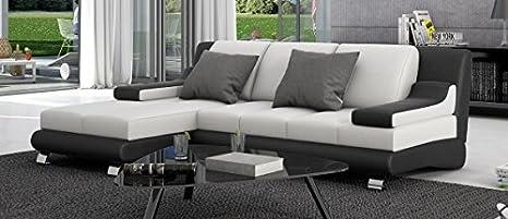 Leder Couch SEVINE Chromfuße